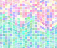 Mosaic Waves. From colorfull tiles royalty free illustration