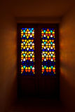 Mosaic window stock image