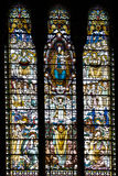 Mosaic window in basilique Notre Dame de Fourviere Royalty Free Stock Image