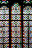 Mosaic window of cathedral of Notre Dame. Mosaic window (green) of cathedral of Notre Dame royalty free stock image