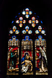 Mosaic window cathedral of Saint-Jean,Lyon,France Stock Image