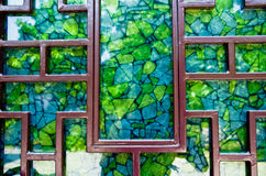 Mosaic of the window. Stock Photo