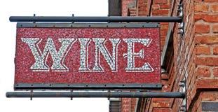 Mosaic Wine Sign royalty free stock photo