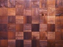 Mosaic of wood pieces Royalty Free Stock Photo