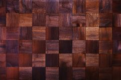 Mosaic of wood pieces, background Royalty Free Stock Photos