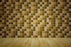 Mosaic wooden room Stock Image