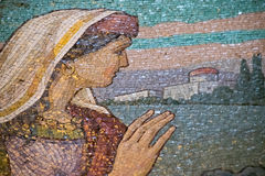 Mosaic work of the Saviour on Blood Temple Stock Photography