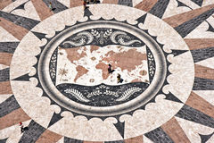 Mosaic World Map Stock Photography