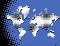 Mosaic world map. Vector illustration of mosaic world map Royalty Free Stock Images