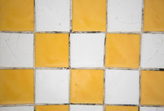 Mosaic yellow and white texture background Royalty Free Stock Image