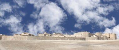 Mosaiced veiw des Bahrain-Forts von der SE-Richtung Stockbilder