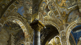 Mosaici bizantini dorati Fotografia Stock