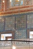 Mosaici complessi della moschea blu fotografia stock libera da diritti