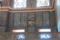 Mosaici complessi della moschea blu fotografie stock libere da diritti