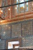 Mosaici complessi della moschea blu immagini stock