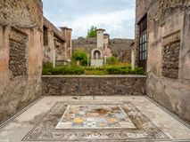 Mosaici romani a Pompei, Italia Lista del patrimonio mondiale Fotografia Stock Libera da Diritti