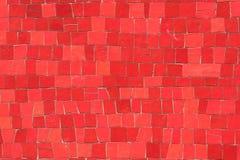 Mosaici rossi fotografia stock