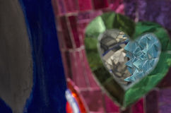 Mosaici, sculture e specchi colorati Fotografie Stock