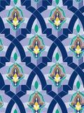 Mosaico árabe inconsútil Foto de archivo