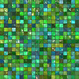 Mosaico abstracto verde del azulejo Fotografía de archivo libre de regalías