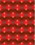 Mosaico abstrato vermelho da textura do fundo Imagens de Stock Royalty Free