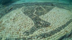 Mosaico adornado en protiro del chalet Arqueología subacuática foto de archivo
