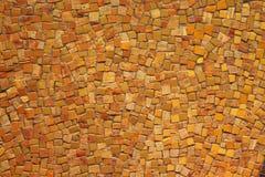 Mosaico amarelo e marrom Imagens de Stock Royalty Free