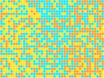 Mosaico anaranjado, amarillo y azul. ilustración del vector