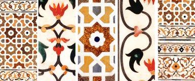 Mosaico antico su marmo, India Fotografie Stock Libere da Diritti