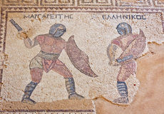 Mosaico antigo em Kourion, Chipre Fotografia de Stock Royalty Free