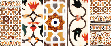 Mosaico antigo no mármore, Índia Fotos de Stock Royalty Free