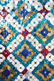 Mosaico antiguo de las paredes magníficas del palacio Imagen de archivo libre de regalías