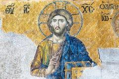 Mosaico antiguo dentro del Hagia Sophia en Estambul, Turquía Fotografía de archivo libre de regalías