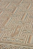 Mosaico antiguo en Kourion, Chipre Foto de archivo