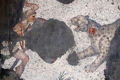 Mosaico antiguo a partir del período bizantino en el gran MOS del palacio Imagen de archivo