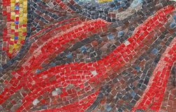 Mosaico antiguo vivo de la iglesia foto de archivo