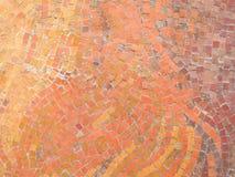 Mosaico arancione Immagini Stock Libere da Diritti