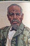 Mosaico artístico com o retrato de Eloy Alfaro Fotografia de Stock