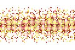 Mosaico astratto di autunno - vector il fondo dallo spazio della copia dei cerchi Illustrazione Vettoriale