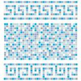 Mosaico azul Fotos de archivo