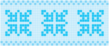 Mosaico azul Foto de Stock