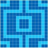 Mosaico azul ilustración del vector