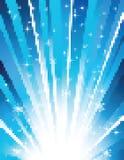 Mosaico azul al azar del vector Imagenes de archivo