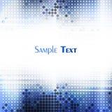 Mosaico azul do techno ilustração royalty free