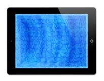 Mosaico azul en iPad Imagen de archivo libre de regalías