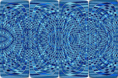 Mosaico azul redondo abstracto Fotografía de archivo