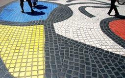 Mosaico Barcellona di Rambla della La fotografia stock