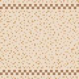 Mosaico beige della piastrella di ceramica nella piscina Fotografia Stock Libera da Diritti