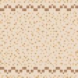 Mosaico beige della piastrella di ceramica nella piscina Immagini Stock