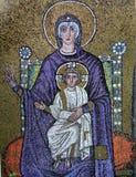 Mosaico bizantino do ícone na basílica de Sant Apollinare Nuovo Fotos de Stock Royalty Free